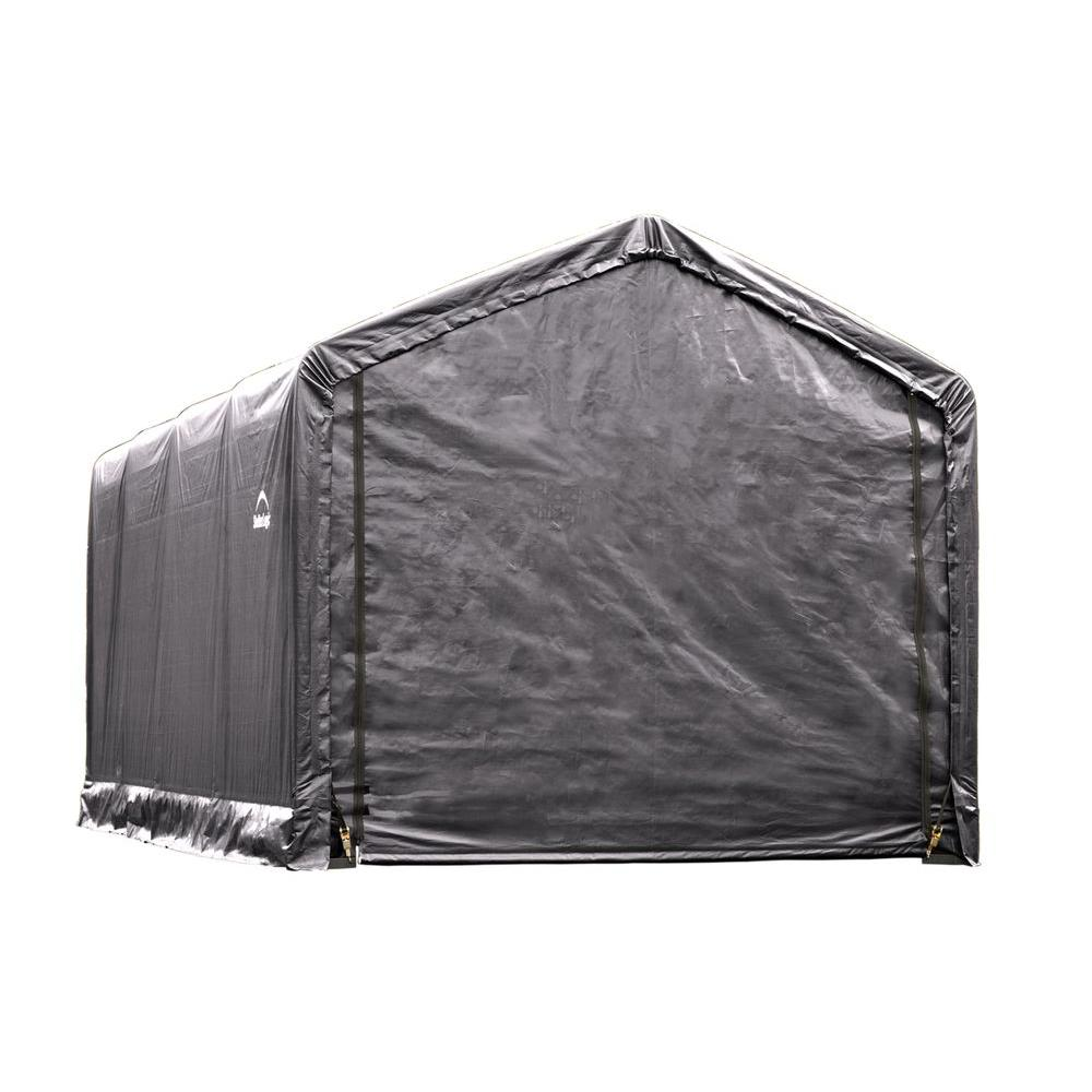 Shelterlogic Sheltertube 12 Ft X 20 Ft X 11 Ft Grey