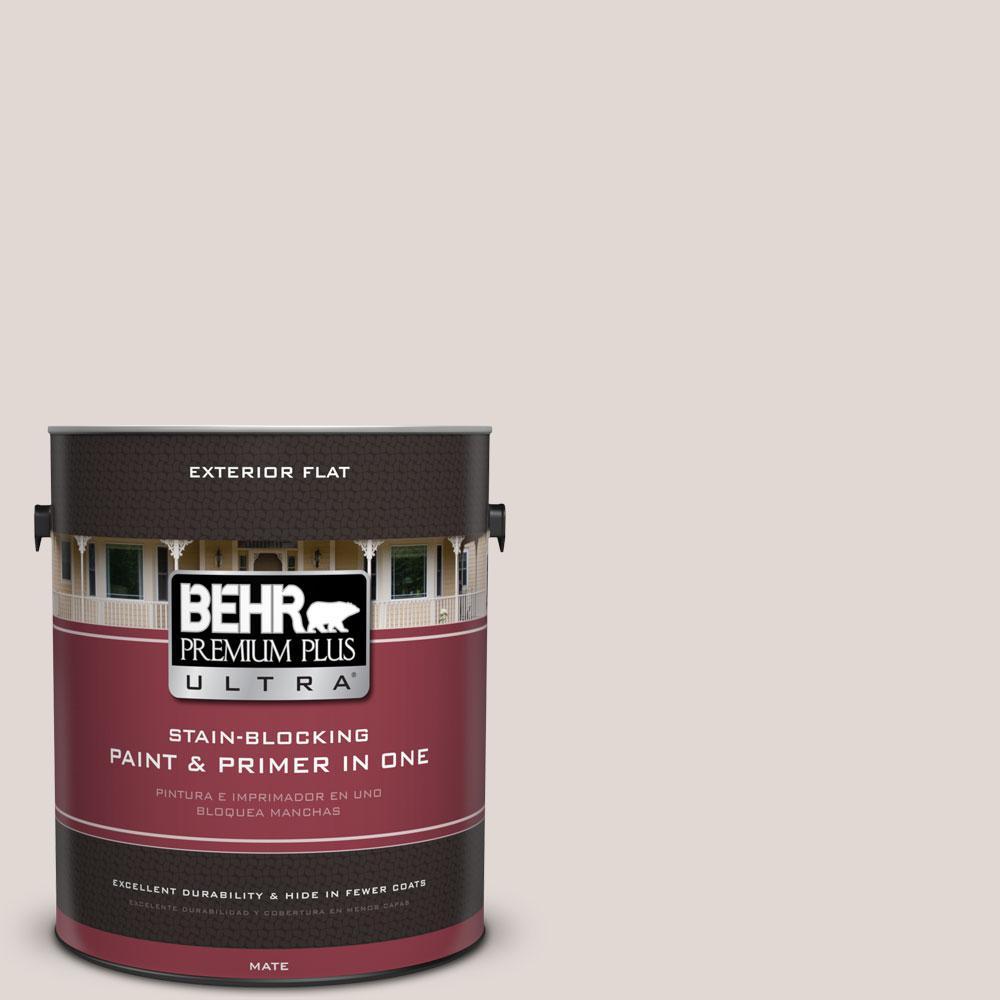 BEHR Premium Plus Ultra 1-gal. #N210-1 Taupe Tease Flat Exterior Paint