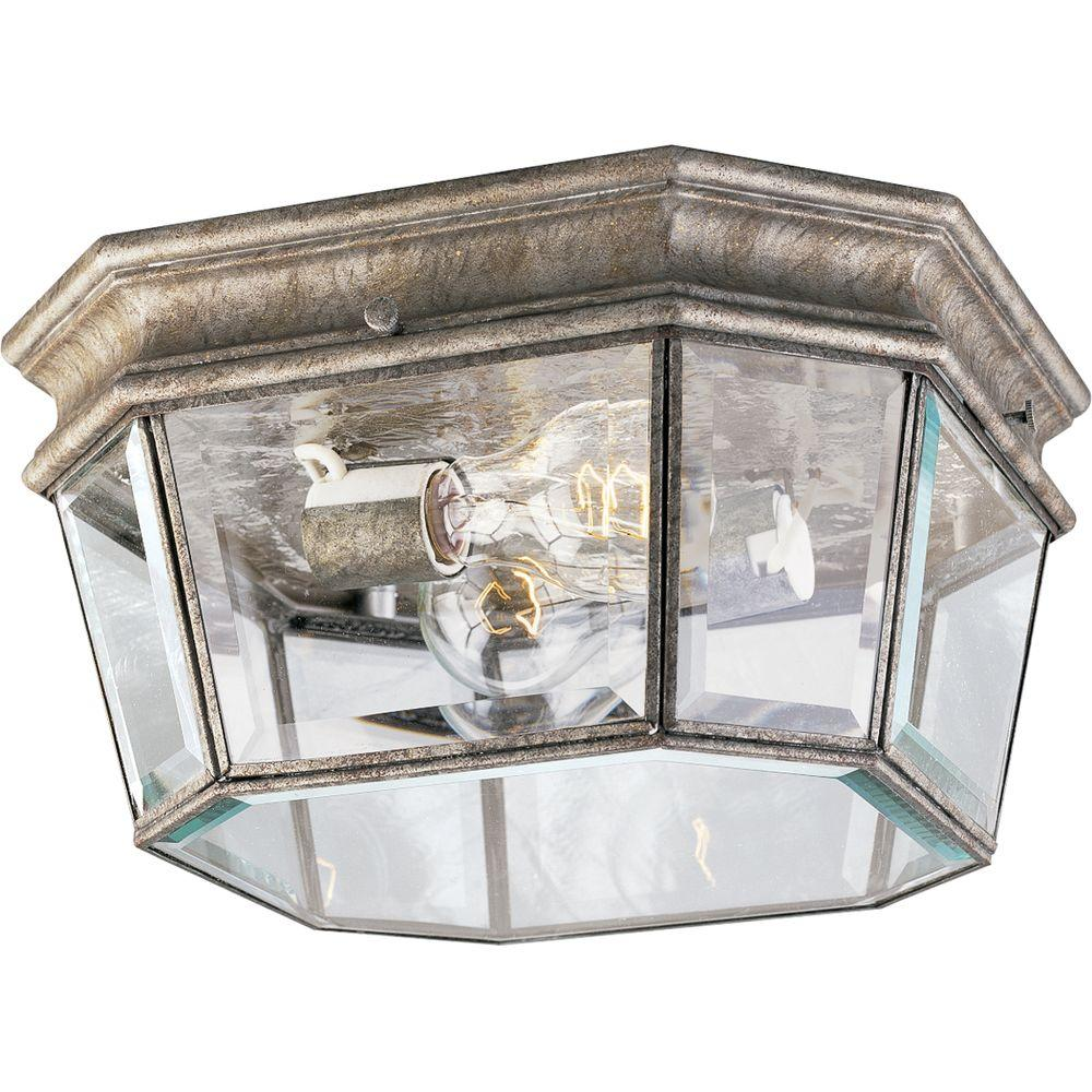 Progress Lighting Crawford Collection Golden Baroque 2-light Outdoor Flushmount-DISCONTINUED
