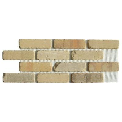 Brickwebb Alamo Sunrise Thin Brick Sheets - Flats (Box of 5 Sheets) - 28 in x 10.5 in (8.7 sq. ft.)