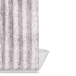 Truly Soft Watercolor Paisley 72 in. Eggplant Shower Curtain ...