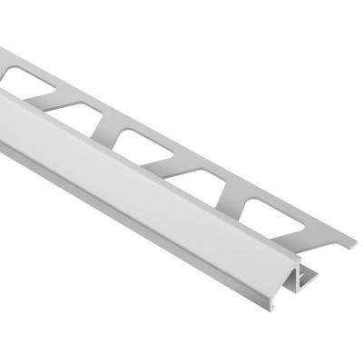 Reno-U Satin Anodized Aluminum 5/16 in. x 8 ft. 2-1/2 in. Metal Reducer Tile Edging Trim