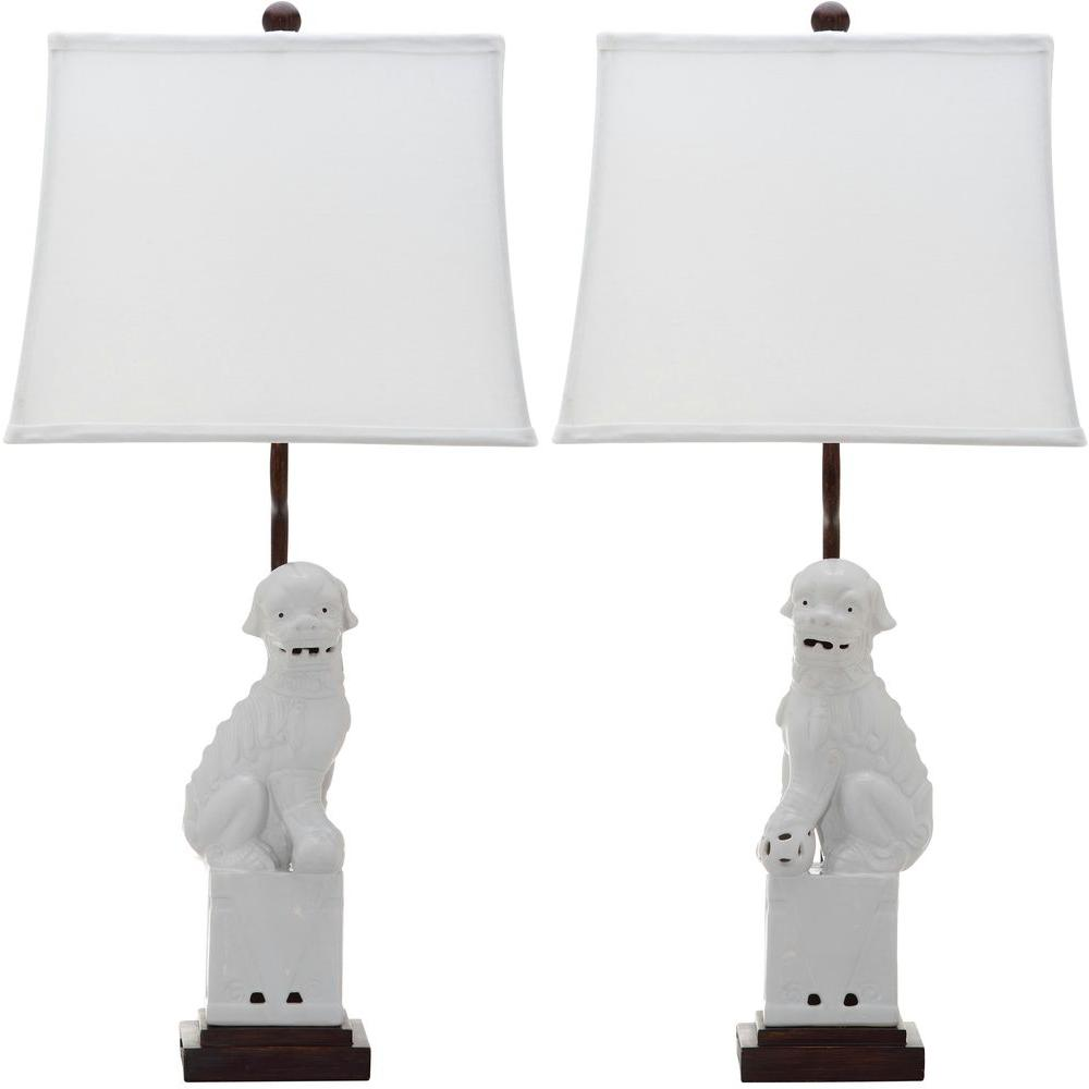 White Dog Table Lamp (Set Of 2)