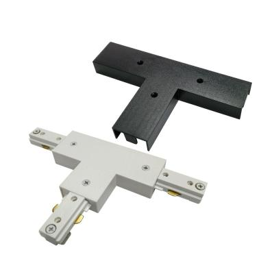 2400-Watt Linear Track T Adapter Coupler with White and Black Cover