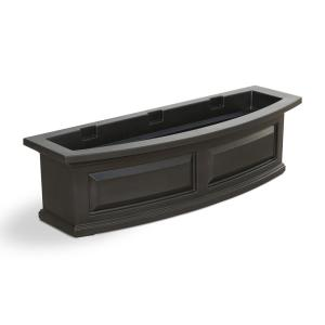 36 in. x 11.5 in. Espresso Plastic Window Box