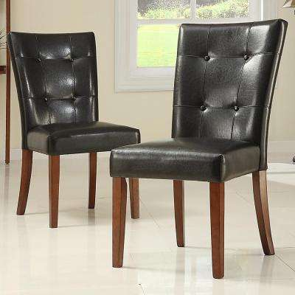 Dark Brown PU Side Chair (Set of 2)