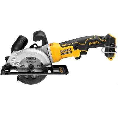 ATOMIC 20-Volt MAX Cordless 4-1/2 in. Circular Saw (Tool Only)