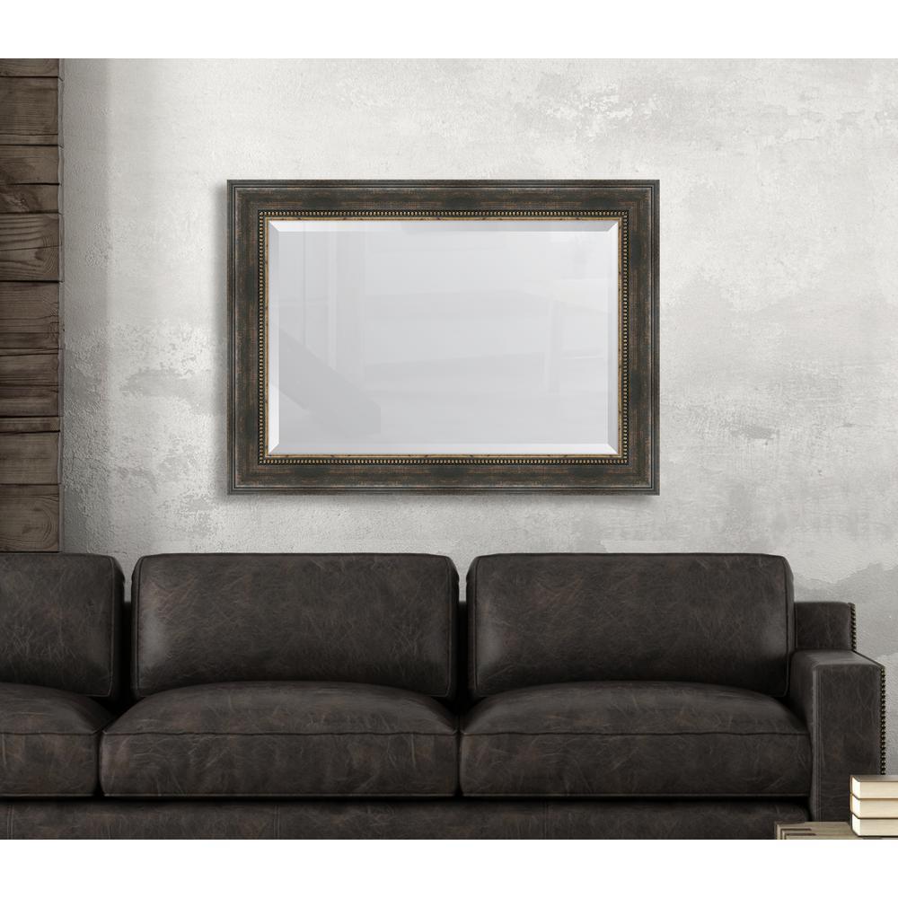 32.5 in. x 44.5 in. Framed Black Bronze Slope Mirror
