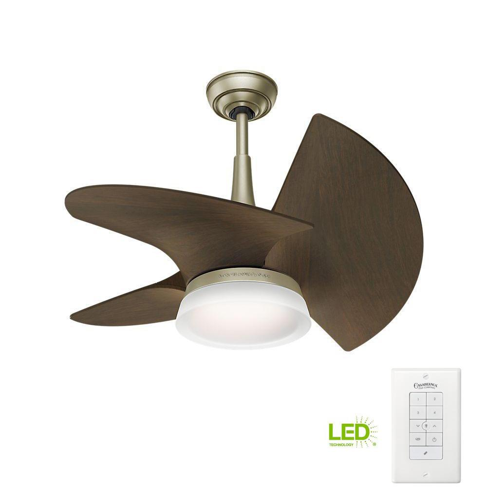 Casablanca Orchid 30 in. LED Indoor/Outdoor Pewter Revival Ceiling ...