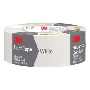 3M 1.88 inch x 60 yds. White Duct Tape (Case of 9) by 3M