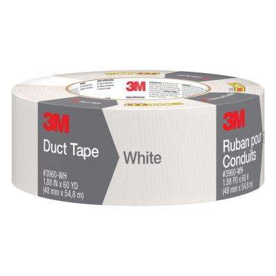 1.88 in. x 60 yds. White Duct Tape (Case of 9)