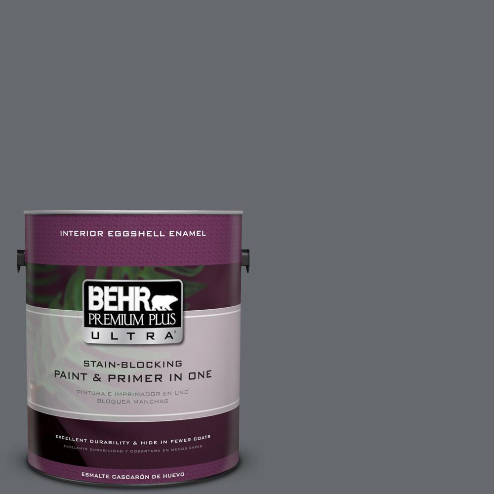 1 gal. #HDC-CL-04G Liberty Bell Gray Eggshell Enamel Interior Paint