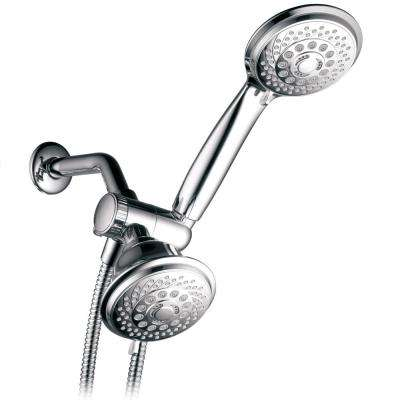 30-Spray Hand Shower and Shower Head Combo Kit in Chrome