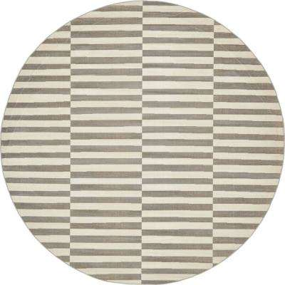 Tribeca Gray 8 ft. x 8 ft. Round Area Rug