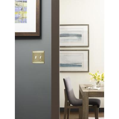 Gold 2-Gang Toggle Wall Plate (1-Pack)