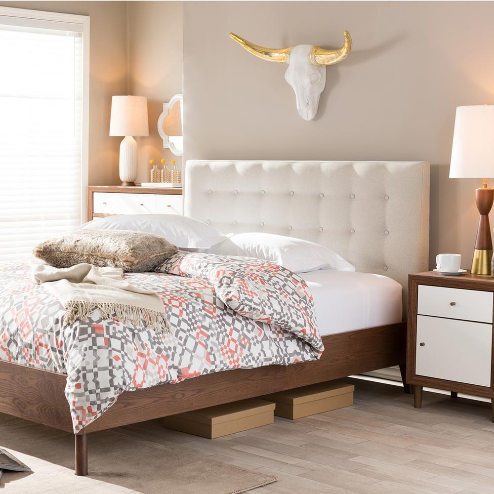 Baxton Studio Upholstered Platform Bed BBT6557-Full-Grey ...
