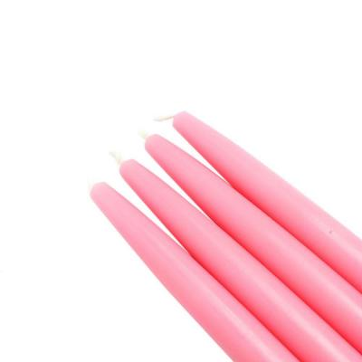 6 in. Pink Taper Candles (12-Set)