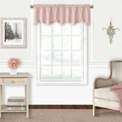 Adaline 52 in. W x 15 in. L Polyester Rod Pocket Single Window Valance in Soft Pink