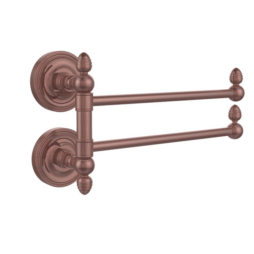 Prestige Regal Collection 2 Swing Arm Towel Rail in Antique Copper