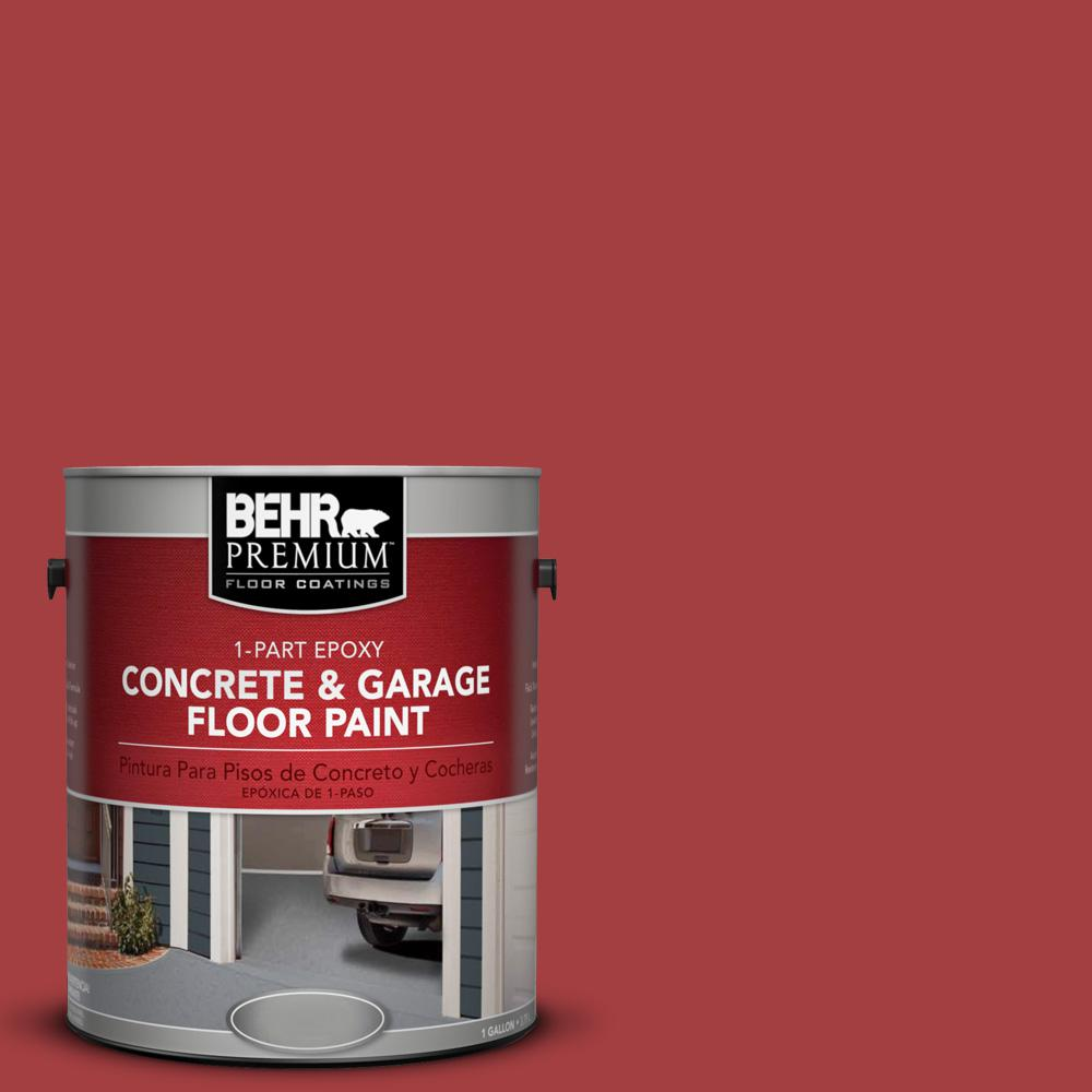 1 Gallon Part Epoxy Concrete And Garage Floor Paint For Interior Exterior Red