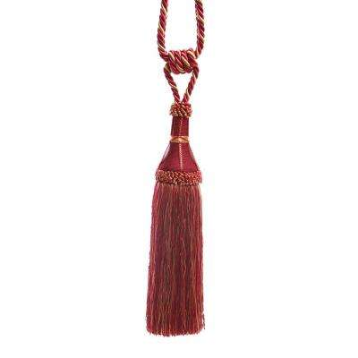Handcrafted 32 in. L Wine Modern Tassel Curtain Tie backs (2-Pack)