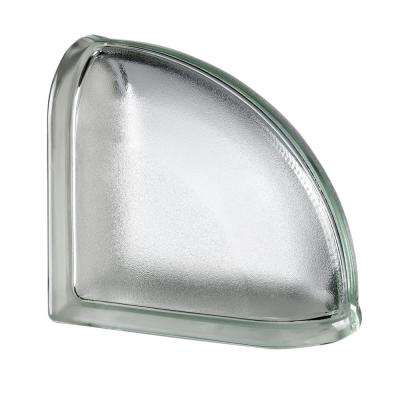 White 5.75 in. x 5.75 in. x 3.15 in. Classic Non-Tinted End Curved Glass Block
