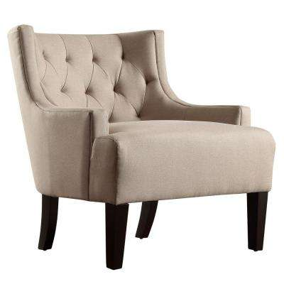 Lexington Oatmeal Linen Barrel Back Arm Chair