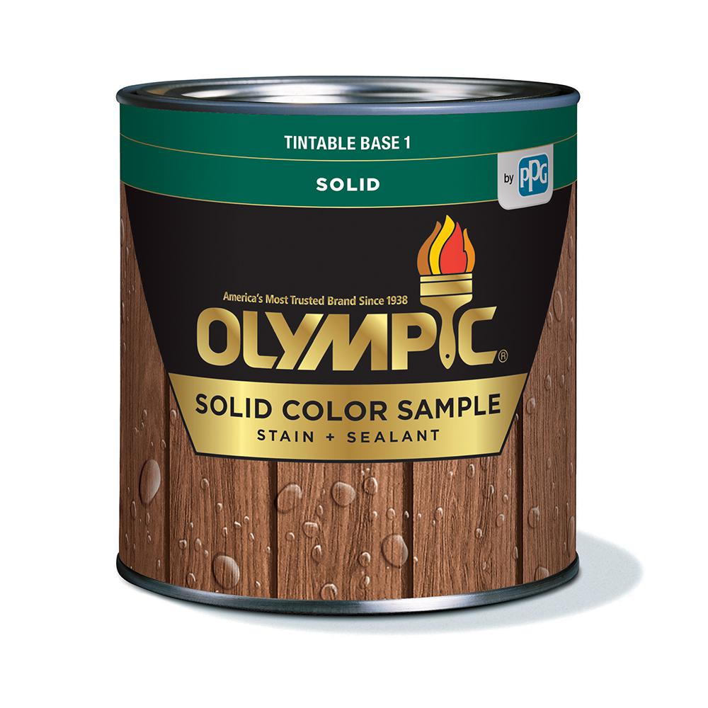 Olympic Elite 7.5 oz. Base 1 Solid Advanced Exterior Stain and Sealant in One