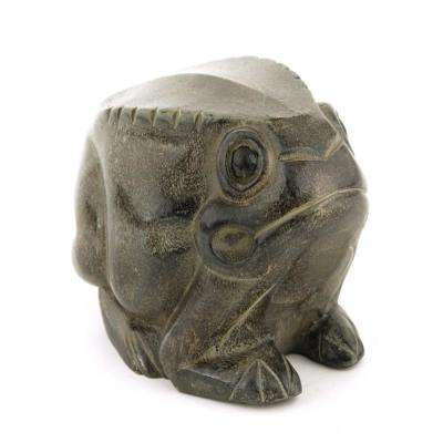 A/&B Home 9.5 by 7 by 8.5-Inch Decorative Frog Statue Black