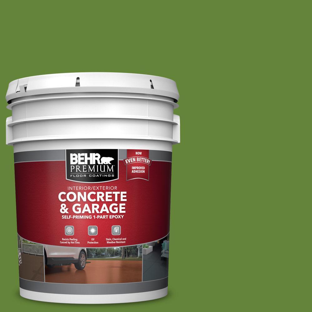 5 gal. #P370-7 Sun Valley Self-Priming 1-Part Epoxy Satin Interior/Exterior Concrete and Garage Floor Paint