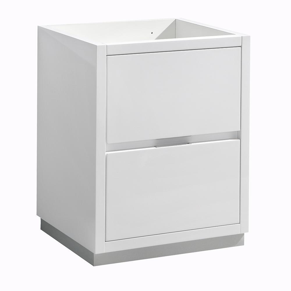 Valencia 24 in. W Bathroom Vanity Cabinet in Glossy White