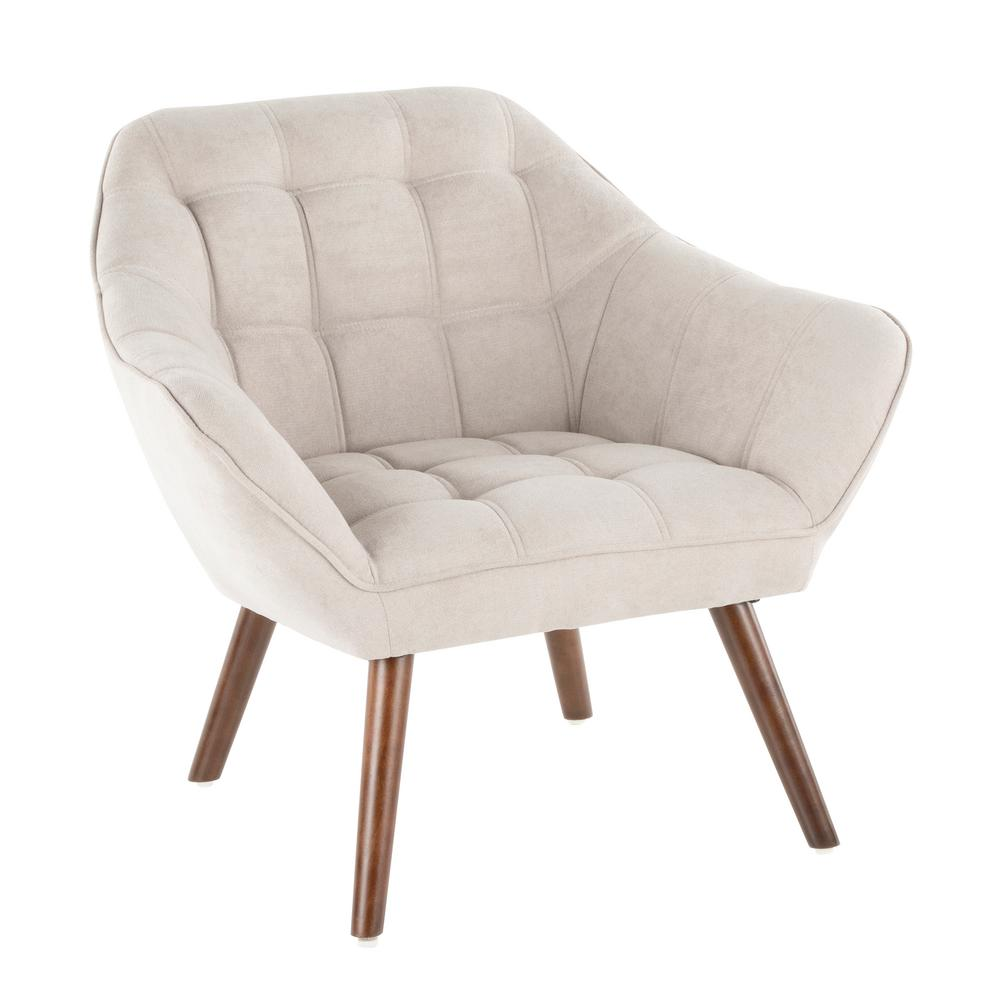 Boulder Beige Upholstered Arm Chair