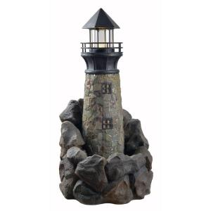 Kenroy Home Lighthouse Resin Outdoor Floor Fountain by Kenroy Home