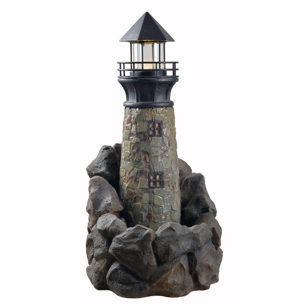 Lighthouse Resin Outdoor Floor Fountain