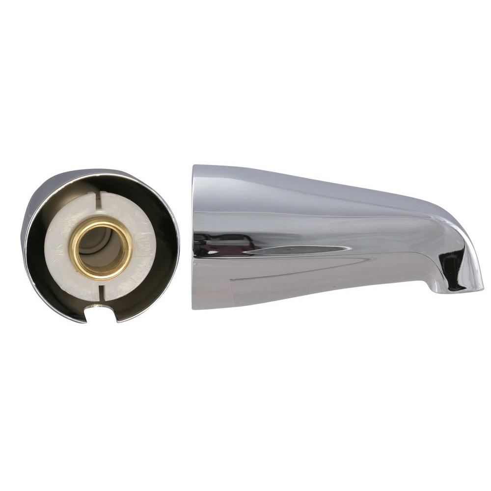 Westbrass 5-1/4 in. Standard Tub Spout in Chrome-DISCONTINUED
