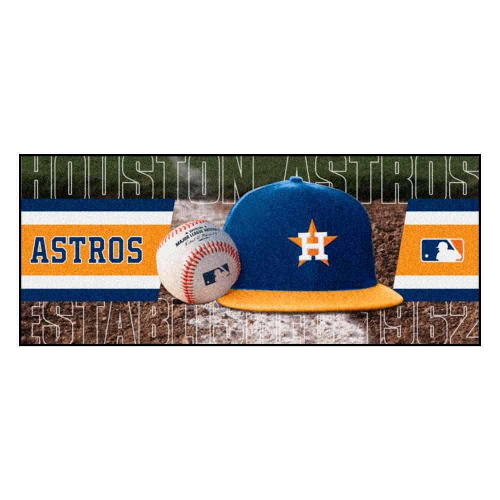 Houston Astros 3 ft. x 6 ft. Baseball Runner Rug