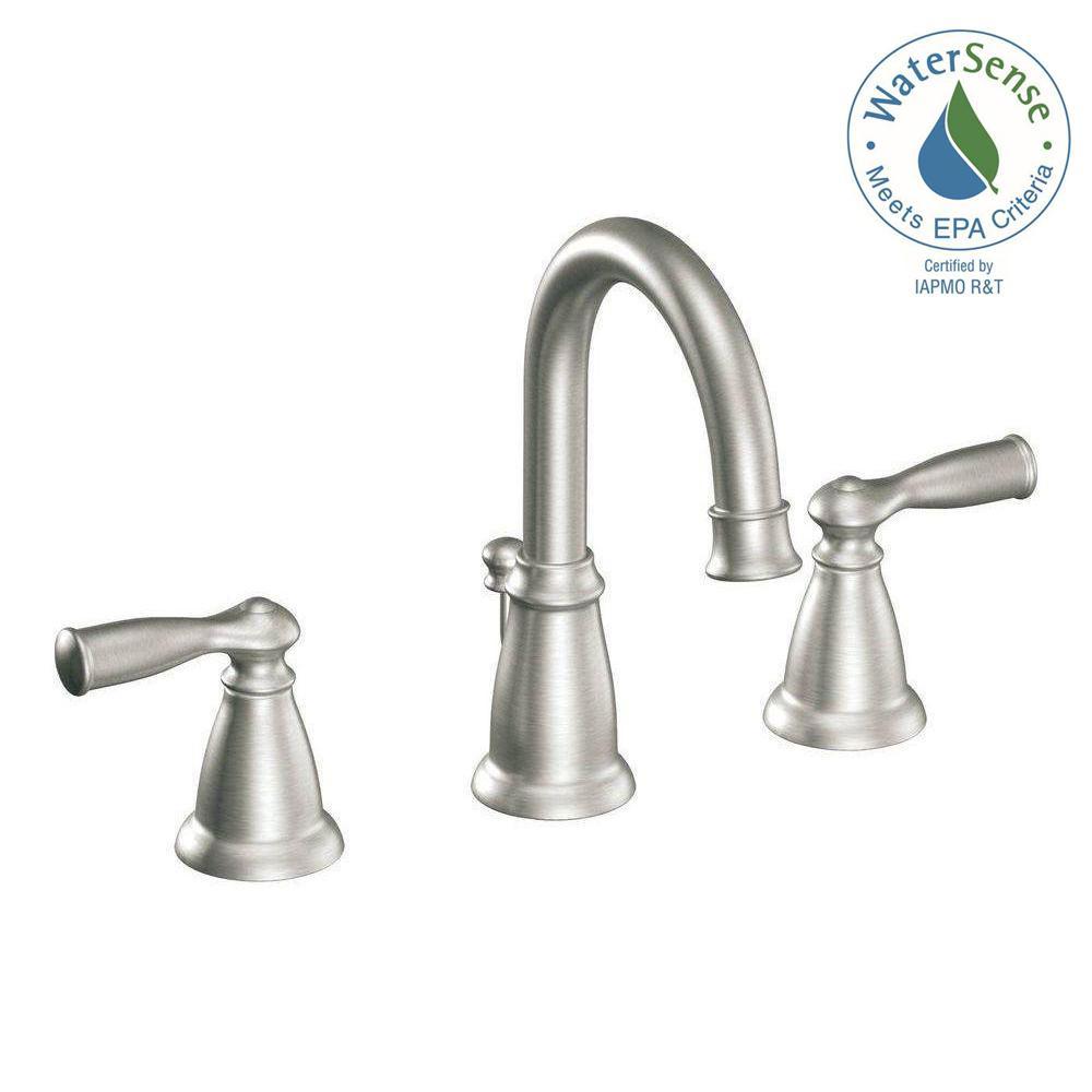 Moen Banbury 8 In Widespread 2 Handle, Bathroom Faucets 8 Inch Spread