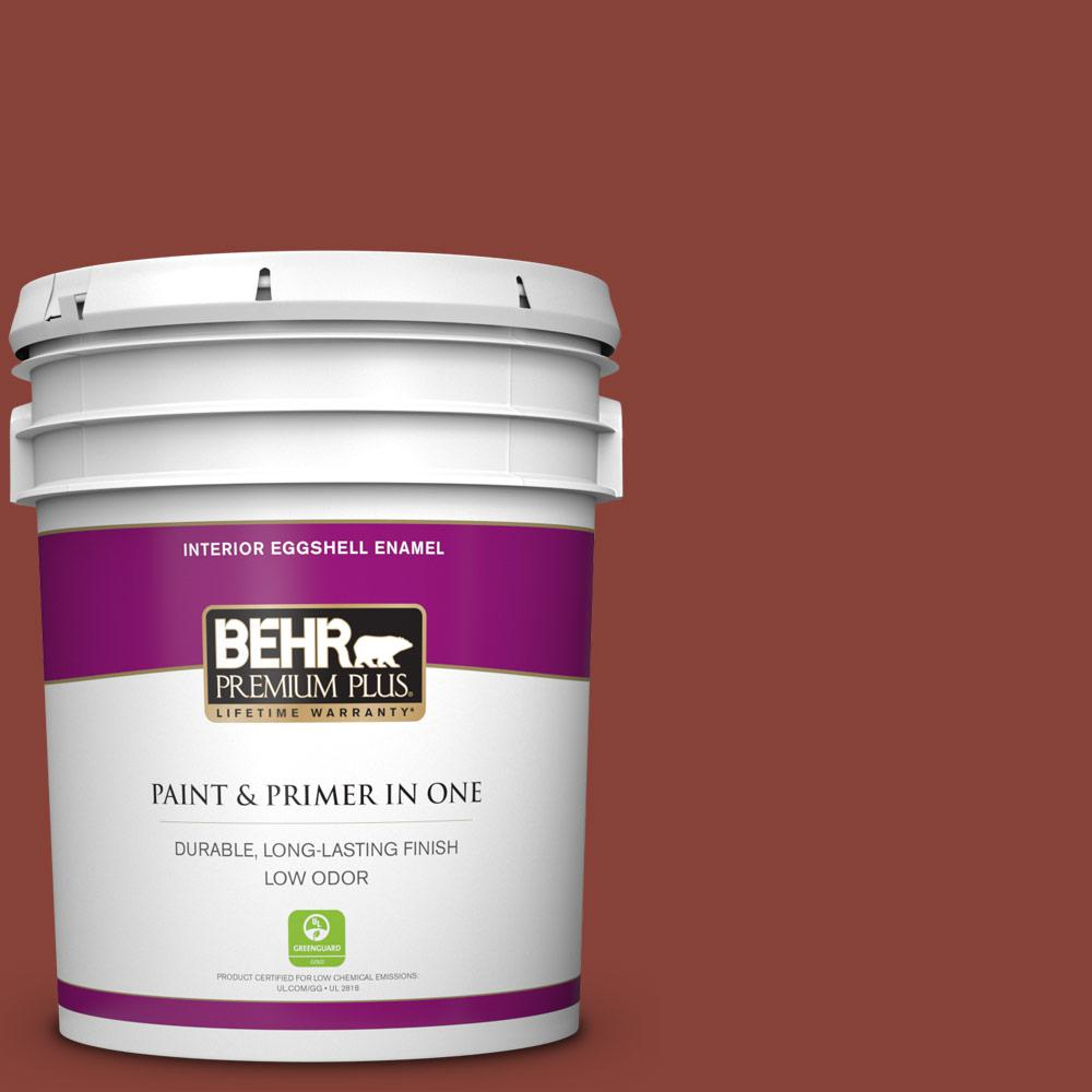 Behr Premium Plus 5 Gal Pmd 42 Mission Tile Eggshell Enamel Low Odor Interior Paint And Primer 230005 The Home Depot