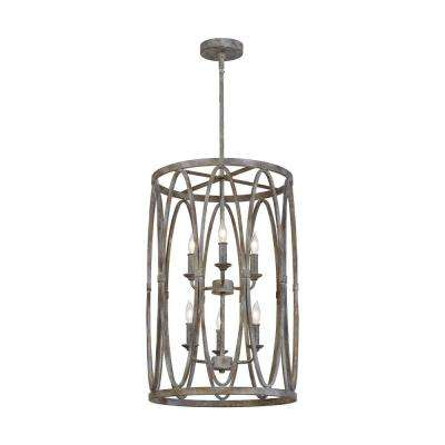 Patrice 6-Light Deep Abyss Chandelier with Open Oval Cage Shade