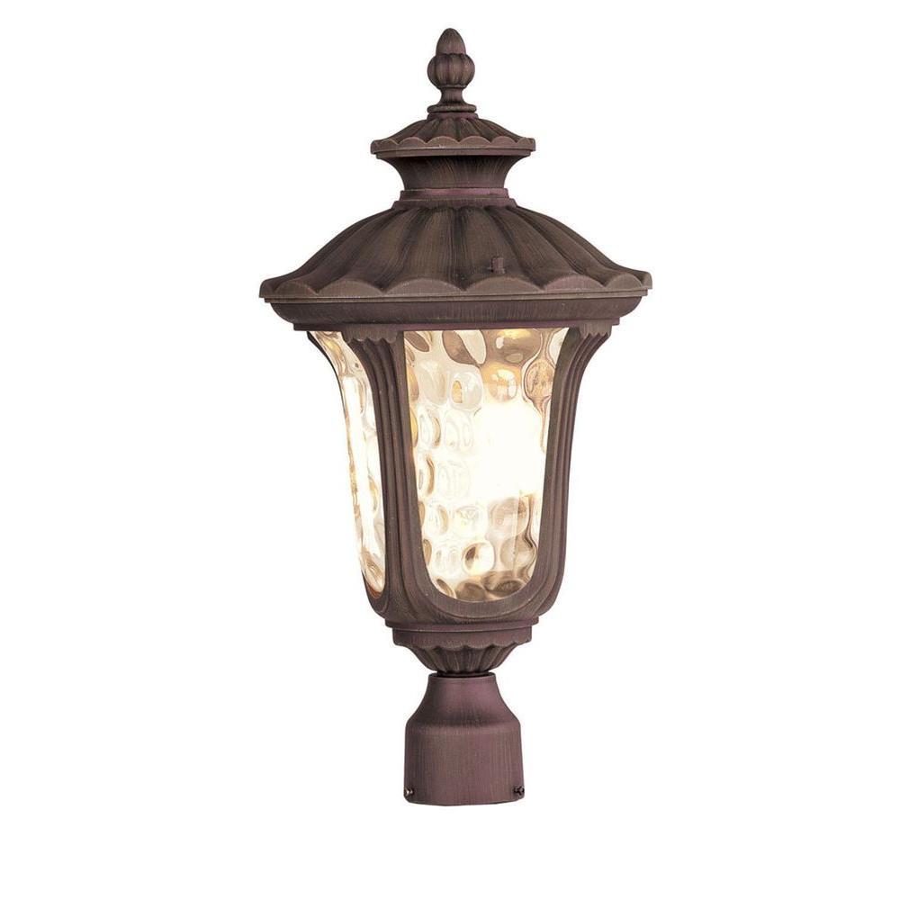 3-Light Outdoor Imperial Bronze Incandescent Post Lantern