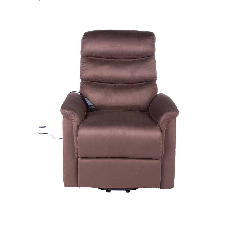Lifesmart Calla Casa Ultra Comfort Fitness Lift Chair with Heat Massage and Remote in Brown Microfiber