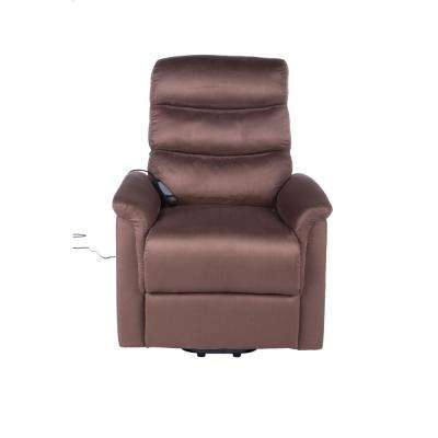Calla Casa Ultra Comfort Fitness Lift Chair with Heat Massage and Remote in Brown Microfiber