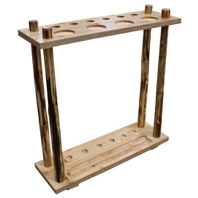 Solid Wood 6 Cue Floor Rack Holder