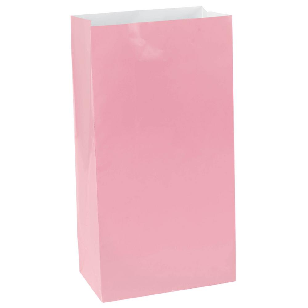 Pink Mini Paper Bags 12 Count