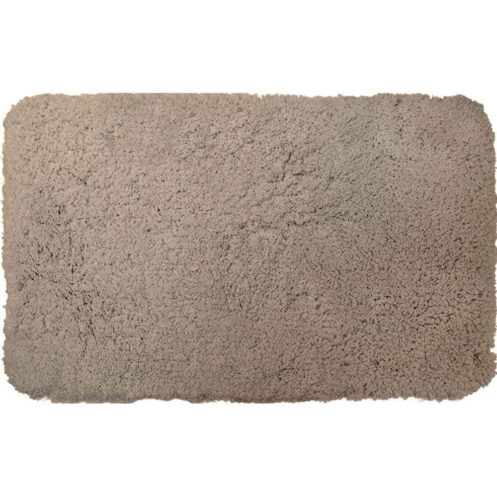 Superior Gray 21 in. x 34 in. Microfiber Bath Mat