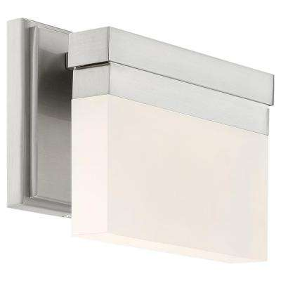 Skinny 11-Watt Brushed Nickel Integrated LED Bath Light