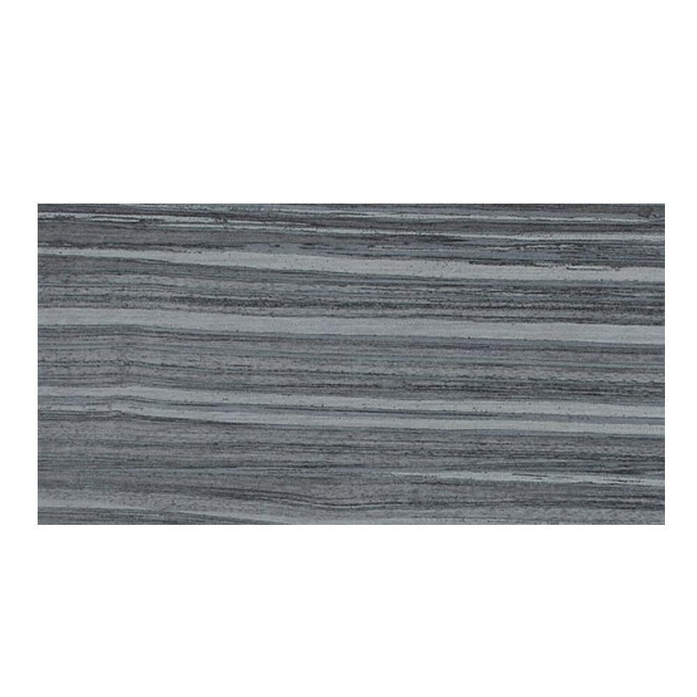 Veranda Gunmetal 13 in. x 20 in. Porcelain Floor and Wall