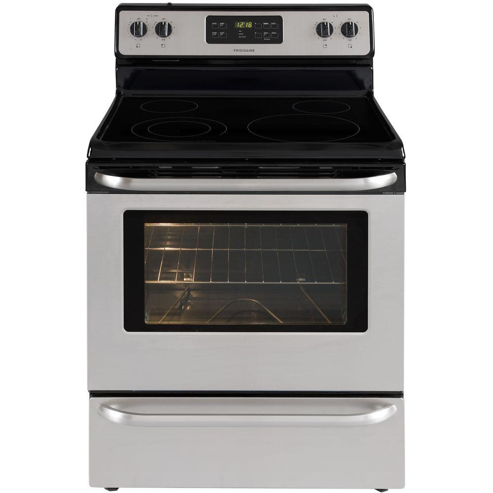 Frigidaire 30 in. 5.3 cu. ft. Electric Range with Self-Cleaning Oven in Stainless Steel