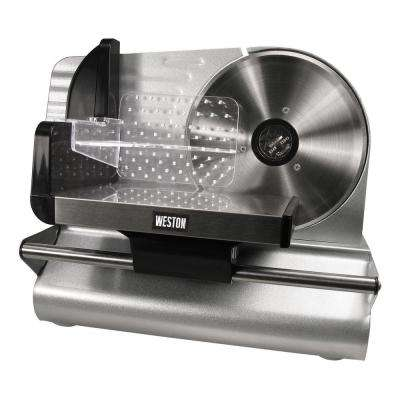 200 W 7.5 in. Silver Electric Meat Slicer