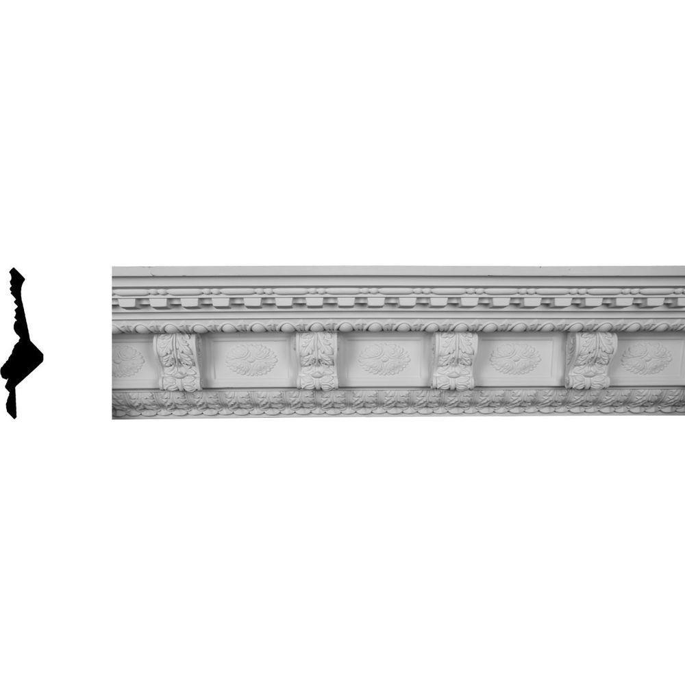 9-3/4 in. x 9-7/8 in. x 96 in. Polyurethane Granada Crown Moulding